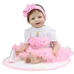 Realistic Girls Toys Australia - Kids Soft Silicone Realistic With Clothes Girl Reborn Baby Doll Fashion Kids Toys Baby Doll