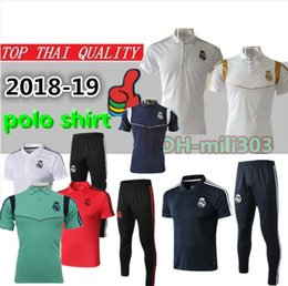f007123247e 2019 Real Madrid Short sleeve polo shirt soccer training suit 18 19 20  RONALDO MODRIC BALE MARCELO ASENSIO ISCO football shirt kit tracksuit
