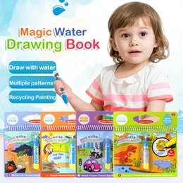 $enCountryForm.capitalKeyWord Australia - Magic Water Drawing Book Coloring Book Doodle & Magic Pen Painting Drawing Board For Kids Toys Birthday Gift