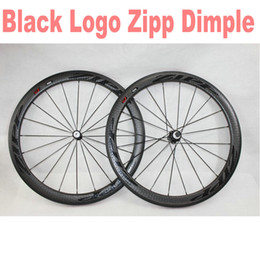 $enCountryForm.capitalKeyWord Australia - A12 All Black logo ZIPP 50mm dimple wheels For Sale Full Carbon Road Bike wheelset 700C Bicycle wheel set