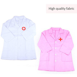 role play toys UK - Children Pretend Uniform Clothes Toy Children's Clothing Role Play Costume Doctor's Overall White Gown Nurse Uniform