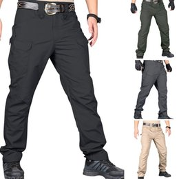 $enCountryForm.capitalKeyWord Australia - Men Tactical Cargo Pants Fashion Multi Pockets Hip Hop Joggers Sweat Pants Waterproof Military Hiking Outdoor Trousers 3xl T190824