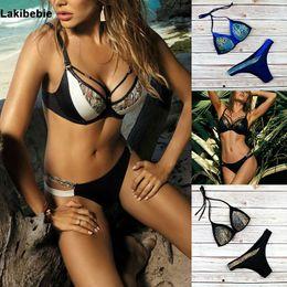 skin suit white 2019 - 2019 New Sexy Snake skin Triangle Bikini Swimwear Female Push UP Padded Bikini Set Swimsuit Brazil Bathing Suit Maillot