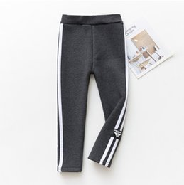 Warm Pants Boy NZ - good quality Boys Pants 2019 Winter Kids Boys Casual Thick Trousers Velvet Legging Warm Cotton Clothing Toddler Striped Bottoms