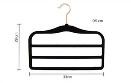 magic coat hangers Australia - 33cm Magic Flocking Hanger Non-slip ThinVelvet Hangers Space Save Closet Racks Clothes Trousers Pants Ties Scarf 3 Crosses for Children Baby