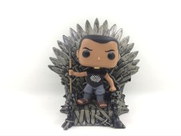 Gifts Finishing UK - Game of Thrones Iron Throne model figure action anime collectible 15cm kids Christmas gift PVC Decoration