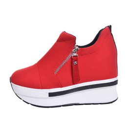 $enCountryForm.capitalKeyWord UK - Wedges Women Boots 2019 New Platform Shoes Woman Creepers Slip On Ankle Boots Fashion Casual Women Shoes XWD4722