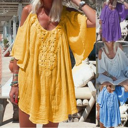 Teddies Dresses Australia - Bridesmaids Infinity Robe Longue Femme Women Dresses Cold Shoulder Batwing Half Sleeved Dress S-2XL Dolls Dress Teddy Lenceria
