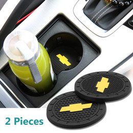 $enCountryForm.capitalKeyWord Australia - 2 Pcs 2.75 inch Car Interior Accessories Anti Slip Cup Mat for for Chevrole,Silverado,Corvette,Cruze,Malibu,Epica, Aveo,Sail,Captiva,Camaro,
