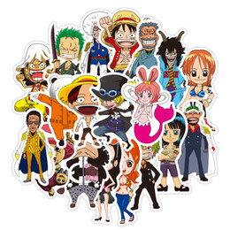 one piece sticker wall Australia - 48 PCS One Piece anime stickers for diy Skateboard Suitcase Phone Luggage Sticker