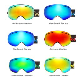 $enCountryForm.capitalKeyWord Australia - Wholesale-Children Ski Boys Girls Kids Ski Goggles Snowboard Ski Glasses Sunglasses Anti-fog Wide Spherical PC Lens Skate Anti-UV Glasses