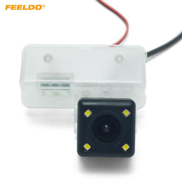 toyota corolla camera NZ - FEELDO Car Reverse Rear View Camera With LED Light For Toyota Vios Yaris Yaris L Camrry Corolla Parking Camera #3944