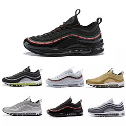 Venta al por mayor de nike air max airmax 97 2018 Chaussures 97 Ultra Running Shoes Marca Diseñador de moda Hombres 97s UL 17 OG Silver Bullet Air Cushion Trainers Maxes Plus 36-45