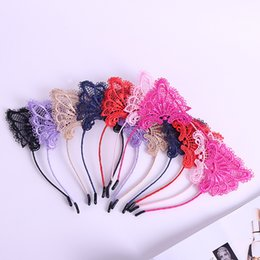 sexy white hair 2019 - Cat Ears Head Bands Fashion Lady Girl Hairband Sexy Self Headband Birthday Party Hair Accessories for Women Hoop cheap s