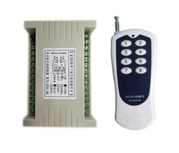 Wholesale 433mhz Universal DC V channel RF Wireless Remote Control switch system Receiver Transmitter lighting
