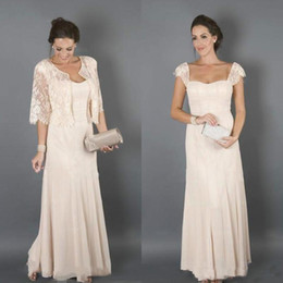 $enCountryForm.capitalKeyWord Australia - 2019 Graceful Mother Of The Bride Dresses With Lace Jacket New Cap Sleeves Cheap Chiffon Long Wedding Guest Prom Party Dress Suits Plus Size