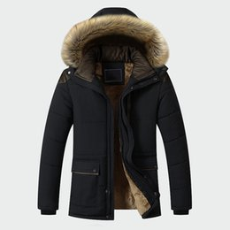 hooded parka overcoat long NZ - Winter Jacket Men Brand Clothing Fashion Casual Slim Thick Warm Mens Coats Parkas With Hooded Long Overcoats Male Clothes