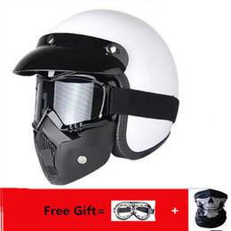 $enCountryForm.capitalKeyWord Australia - 2019 New gift Synthetic Motorcycle Helmet Retro Vintage Cruiser Chopper Scooter Cafe Racer Moto Helmet 3 4 Open Face DOT