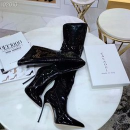 $enCountryForm.capitalKeyWord Australia - Hot 2019 New Arrived Winter Woman Blue Boots Over The Knee Thigh High Boots Bling Bling Sexy High Heels Sequined Cloths Slip On n0720
