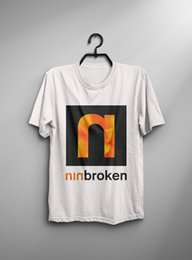 simple nail styles Australia - Nine Inch Nails Broken Fixed 1994 Vintage T Shirt Trent Reznor New Ment T Shirt Summer Style Fashion New Arrival Simple