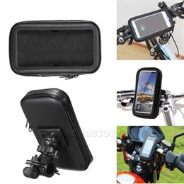 Discount waterproof iphone mount for motorcycle - Waterproof Motorcycle Bicycle Bike Motorcycle Handlebar Phone With Handlebar Mount Holder Case Bag For Samsung For Huawe
