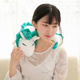 ghibli toys UK - Free shipping Ghibli Miyazaki Hayao Plush Toy Spirited Away Haku 28cm Cute Doll Stuffed Plush Toy Pillow for christmas gift Y200623
