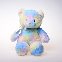Bears stuffed animals online shopping - 2020 cm Rainbow teddy bear plush toys Stuffed Animals good qulity soft doll children s toy gift p178