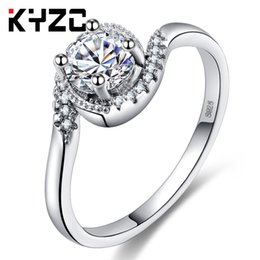 $enCountryForm.capitalKeyWord NZ - Korean version of simple round and beautiful zircon silver ring accessories