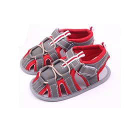 Baby Girl Summer Canvas Shoes Australia - Summer Baby Shoes Fashion Newborn Toddler Infant Baby Boys Girls Color Splice Canvas Soft Sole Anti-slip Sandals Shoes M16 #FN