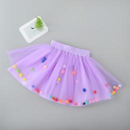 Red White Blue Tutus Australia - European Childrens girls Tutu Skirt Baby Girl Color Ball Cute Dance Wear Skirts Infant Kids Purple Tulle Birthday Short Skirts
