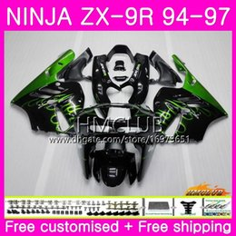 $enCountryForm.capitalKeyWord Australia - Bodys For KAWASAKI NINJA ZX 9R ZX900 ZX-9R 94 95 96 97 Kit 69HM.3 New Green flames ZX 9 R 94 97 900CC ZX9R 1994 1995 1996 1997 Full Fairing