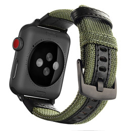 iwatch straps Australia - Military Nylon Watch Loop Strap for Apple Watch 1 2 3 4 5 Wrist Bracelet Sports Band for Iwatch 38mm 40mm 42mm 44mm Leather Watch Band