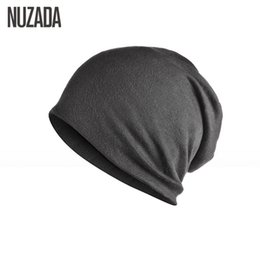$enCountryForm.capitalKeyWord Canada - Brand NUZADA Solid Color Unisex Men Women Skullies Beanies Hedging Cap Knit Knitted Cotton Double Layer Fabric Caps Bonnet Hat S1218