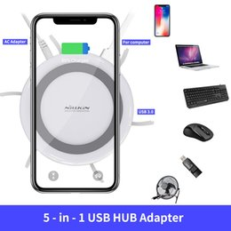 $enCountryForm.capitalKeyWord NZ - NILLKIN USB Extend USB 3.0 HUB 5 Ports For iPhone XS Max for Samsung S8 S9 Plus Qi Wireless Charger Android Adapter