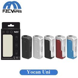 China Authentic Yocan Uni Box Mod Battery 650mAh Adjustable Voltage and Preheat Battery for 6-12mm Diameter Thick Oil Cartridge 100% Original suppliers