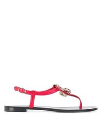 $enCountryForm.capitalKeyWord Canada - 2019ss womens Strawberry Red Crystals T-strap flat Sandals open toe leather Thong Sandals size euro 35-42