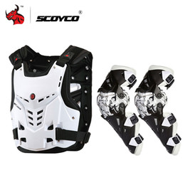 Scoyco Racing Gear Australia - Cheap Jackets SCOYCO Jacket Armor Motorcycle Riding Chest Protective Gear Motocross Off-Road Racing Vest+Motorcycle Knee