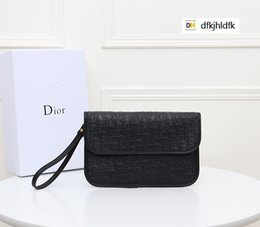 pure key NZ - DYZ8 1055 clutch bag pure black REAL LEATHER Compact Long Wallets Chain Wallet Pouches Key Card Holders Phone Cases PURSE CLUTCHES EVENING