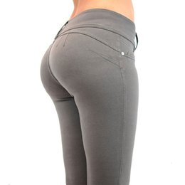 butt light 2019 - Fashion Women Honey Peach push up Hip Stretch Skinny Leg Casual Solid Butt Lifting Elastic Sexy Pencil Pants Trousers Je