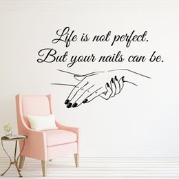 $enCountryForm.capitalKeyWord NZ - Nail Salon Quote Wall Decal your Nails can be Perfect Nails Nail Art Polish Manicure Pedicure Beauty Salon Decor Stickers