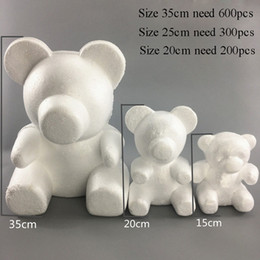 $enCountryForm.capitalKeyWord Australia - 15 20 35CM Modeling Polystyrene Styrofoam White Bear Foam Balls Crafts For DIY Christmas Gifts Party Supplies Decoration