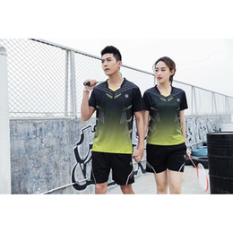 Sportswear T Shirt Badminton Australia - Quick Dry Breathable Badminton Tennis Shirts Women Men Table Tennis Professional Game Running Training Sportswear Loose T Shirts