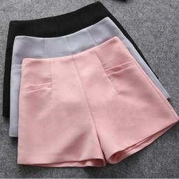 White Shorts Australia - Summer Hot Fashion New Skirts High Waist Casual Suit Black White Women Short Pants Ladies Shorts Large Size C19041102