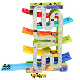 $enCountryForm.capitalKeyWord Australia - Double Track Race Glider Inertial 6 Floors Rail Track Toy Green Wooden Puzzle Car Toy Model Can Bite
