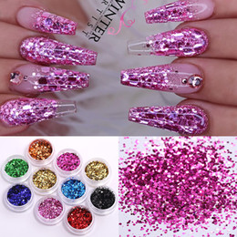 Wholesale 24 Boxs Set Holographics Nail Glitter Powder Colorful Shinning Nail Sequins Pigment Dust Power Art Decoration DIY Design