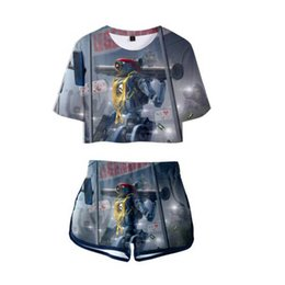 white girls yoga pants 2019 - Apex Legends 3D Print Summer Two Piece Sets Girl  Boy suits Fashion cool White Comfortable Set Crop Top and Short Pants