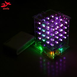 Back To Search Resultselectronic Components & Supplies Hearty 3d Led Multicolor Light Cubeeds Electronic Diy Kit 4x4x4 100% High Quality Materials