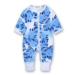 Chinese  Newborn Baby Rompers Kids Zipper Shirt Long Sleeve Round Neck Love Pattern Tight Cuff Trousers Jumpsuits 32 manufacturers