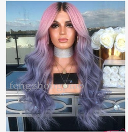 Rainbow wigs long haiR online shopping - Rainbow Color Sexy Cosplay Long Wigs Woman Fashion Simulation Human Hair Best Silk Body Wavy Party Wigs for Black Women