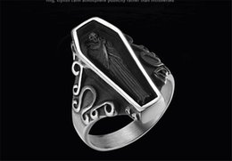 $enCountryForm.capitalKeyWord Australia - New European and American portrait return to the ancients men's rings hot style titanium stainless steel men's ring width 8MM